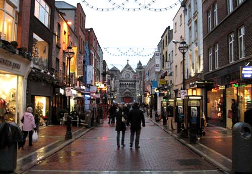 Dublin - pavaj iarna